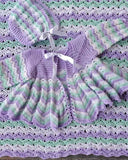 Dainty Ripple Layette Crochet Pattern
