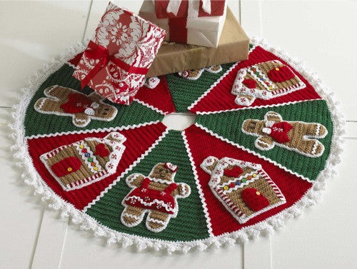 Gingerbread Tree Skirt Crochet Pattern - Maggie's Crochet