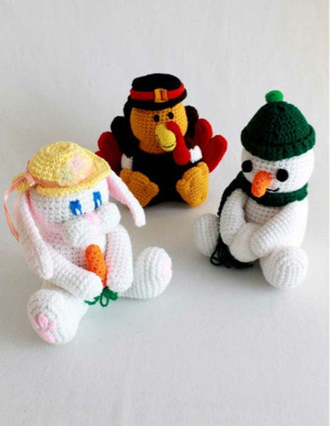 easter bunny, turkey, snowman