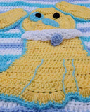 Ringo The Pup Afghan, Bib & Toy Crochet Pattern