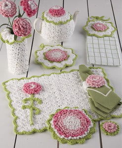 Carnation Kitchen Set Crochet Pattern - Maggie's Crochet
