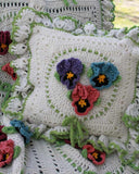 Pansy pillow upclose