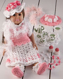 "18"" Doll Helena Has a Tea Party Crochet Pattern - Maggie's Crochet"