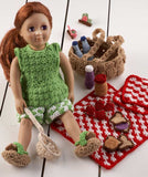 "18"" Doll Picnic Fun Set Crochet Pattern - Maggie's Crochet"