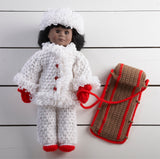 "18"" Doll Lorraina Goes Sledding Crochet Pattern - Maggie's Crochet"