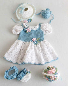 "18"" Doll Anastasias Ready for Spring Crochet Pattern - Maggie's Crochet"