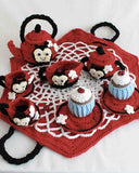 Ladybug Tea Set Crochet Pattern - Maggie's Crochet