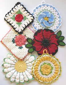 Vintage Floral Potholders Crochet Patterns - Maggie's Crochet