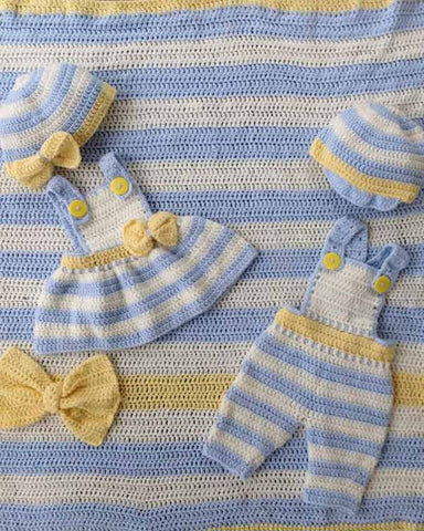 Lemon Drop Layette Crochet Pattern