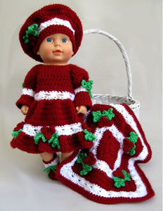 Baby Holly Outfit & Afghan Crochet Pattern - Maggie's Crochet