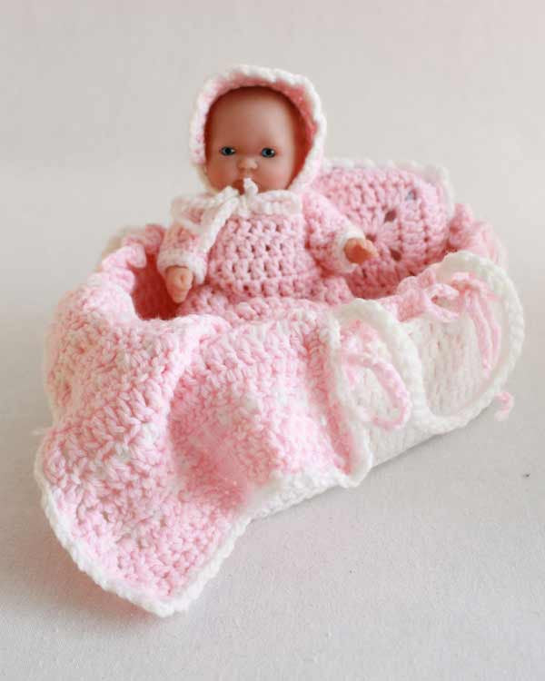 Baby doll crochet patterns maggies crochet moses basket baby crochet pattern maggies crochet dt1010fo