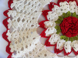 Vintage Redwork Home Décor Set Crochet Pattern - Maggie's Crochet