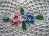 variegated rose doily