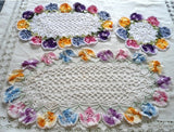 variegated pansy doilies