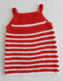 red and white stripped baby doll dress