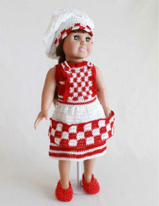 "18"" Doll Betty the Barbecue Chef Crochet Pattern - Maggie's Crochet"