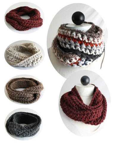 30-Minute Infinity Scarves Crochet Patterns