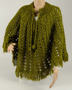 Vintage Lacy Shells Poncho Crochet Pattern - Maggie's Crochet