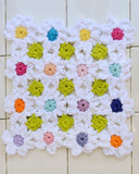 Multicolored floral dishcloth