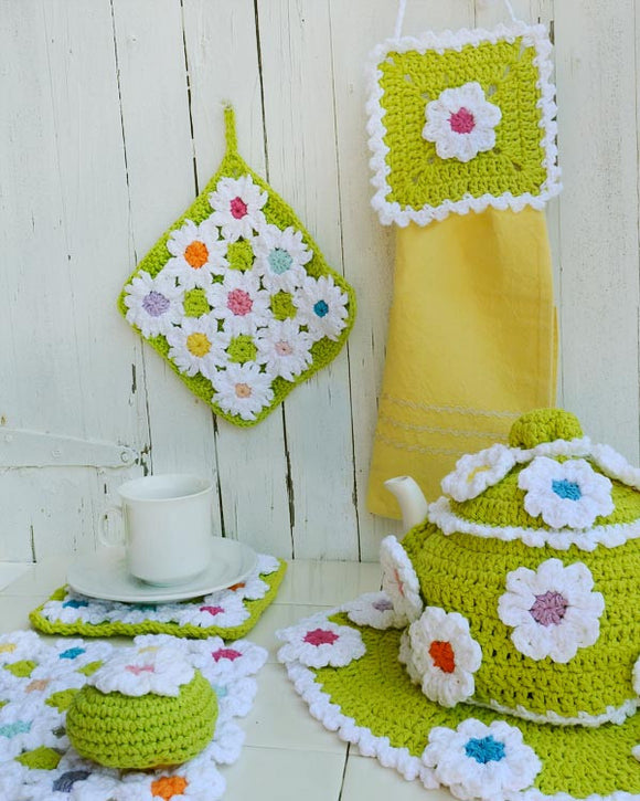 Floral Bliss Kitchen Set - Maggie's Crochet