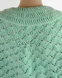 vintage adult shell cape green