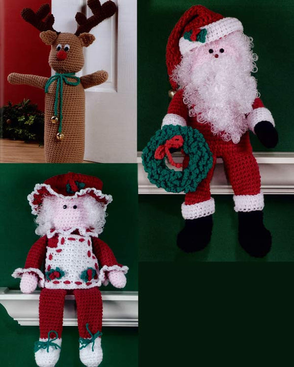 Christmas Doorstops and Shelf Sitters Crochet Pattern - Maggie's Crochet