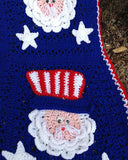 4th of July Uncle Sam Afghan & Pillow Set Crochet Pattern ...