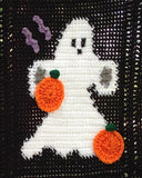 Halloween Ghosts Afghan & Pillow Set Pattern