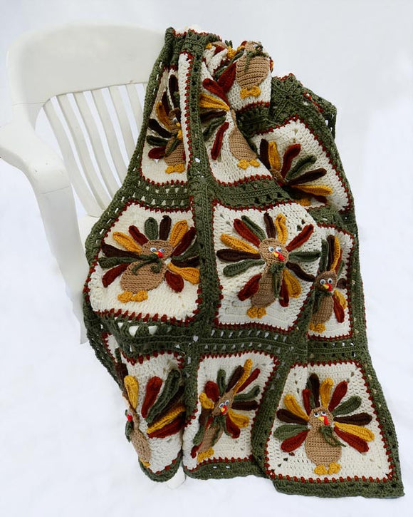 Thanksgiving Turkey Afghan Crochet Pattern - Maggie's Crochet