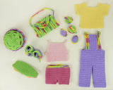 "18"" Doll Weekend Fun Sports Set Crochet Pattern - Maggie's Crochet"