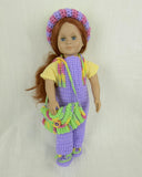 crochet doll clothes overalls top hat
