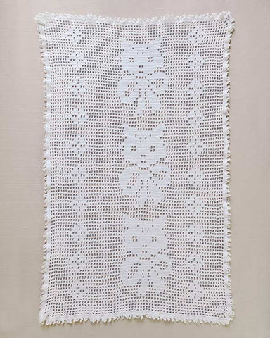 Maisy, Mildred & Maude Vintage Filet Kitten Doily Pattern