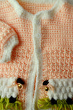 peach lamb sweater