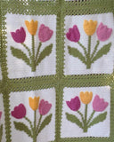 Tulip Afghan and Pillow Set Crochet Pattern - Maggie's Crochet
