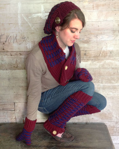 Collegiate Set Crochet Pattern - Maggie's Crochet