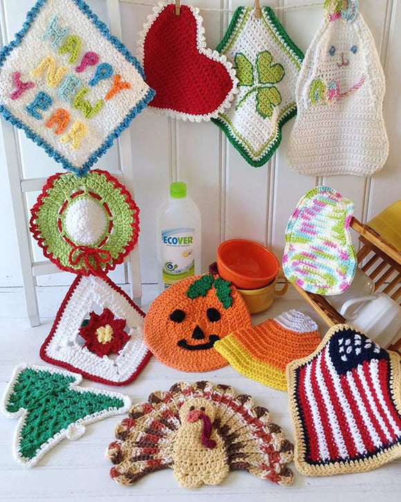 Holiday Dishcloth Set Crochet Pattern - Maggie's Crochet