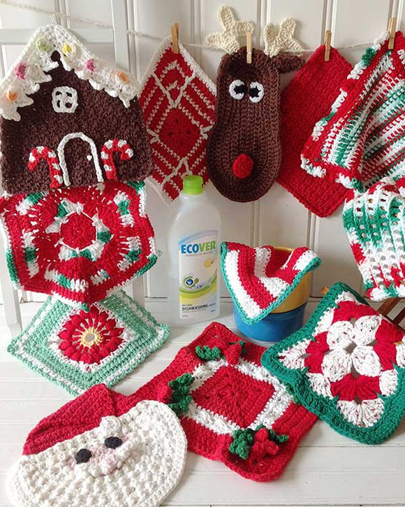 Christmas Dishcloths Set Crochet Pattern