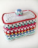 Granny-Go-Round Kitchen Set Crochet Pattern