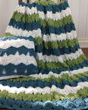 Victorian Ripple Afghan & Pillow Set Crochet Pattern
