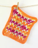 Orange Dishcloth Set Crochet Pattern