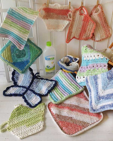 Stripes Dishcloth Set Crochet Pattern