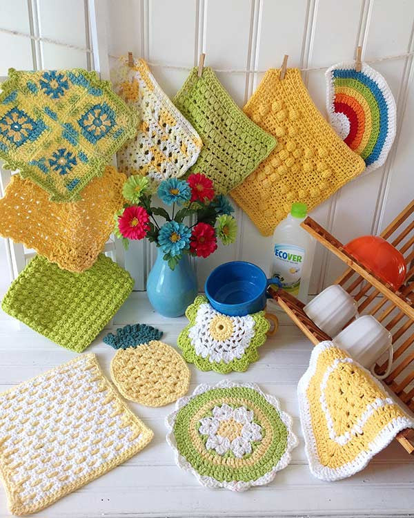 Dishcloth In Spanish: Maggie's Crochet · Sunny Days Dishcloths Crochet Pattern
