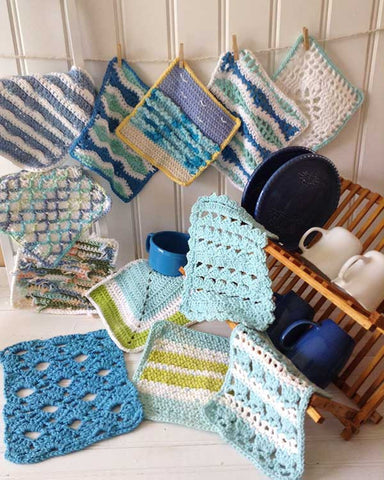 Seaside Dishcloths Set Crochet Pattern