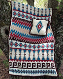 Aztec Afghan & Pillow Set Crochet Pattern - Maggie's Crochet