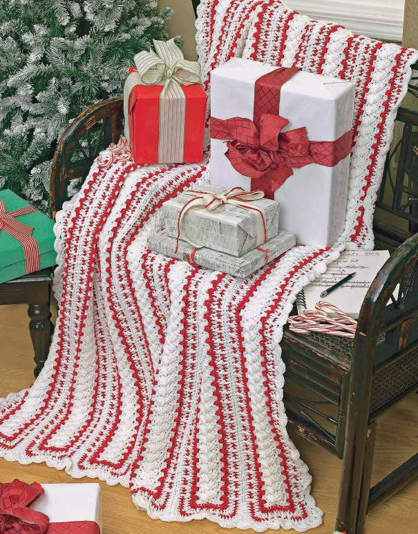 Mile A Minute Christmas Afghans Set Crochet Pattern