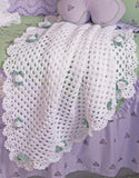 Floral Grannies Afghan Set Crochet Pattern