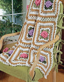 Cabbage Rose & Ripples Afghan Set Crochet Pattern