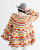 Crochet Pattern Shell Stitch Sweater Jacket Vintage - Maggie's Crochet