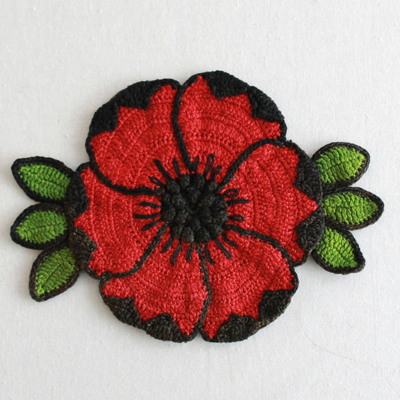 Vintage Poppy Potholder PDF Download