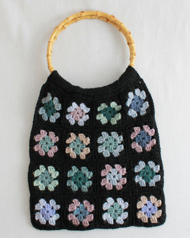 granny square scrap purse